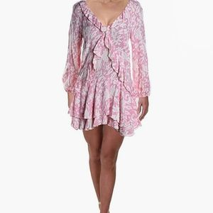 Free People   rebecca floral pink & white dress